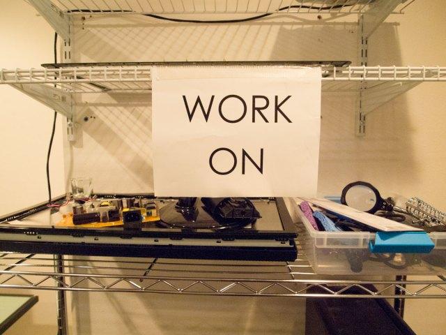 Tech Savvy repair work rack