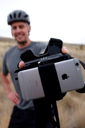Action Mount iPhone closeup