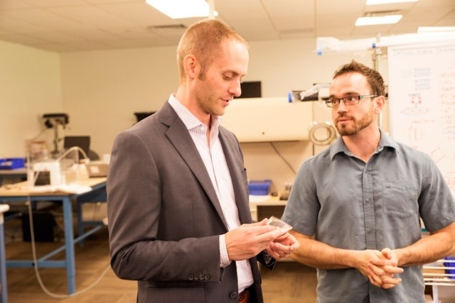 Healthfundr's CEO Jared Iverson in the lab