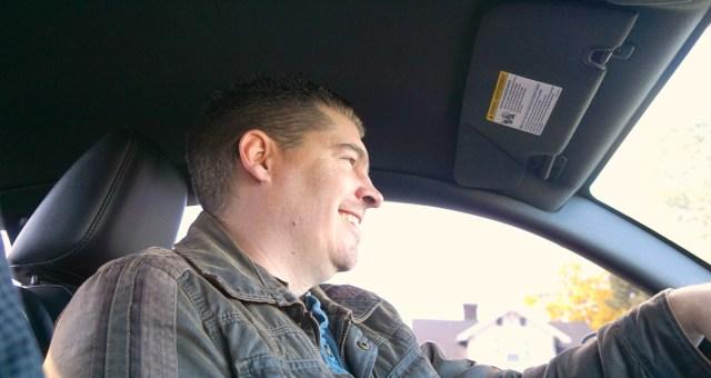 Kris Bloom driving
