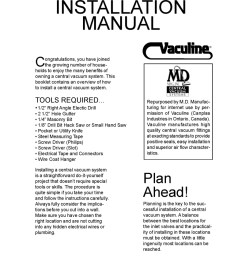 central vacuum system installation manual [ 790 x 1022 Pixel ]