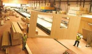 Built Prefab Modular Homes CLT Manufacturing Photo