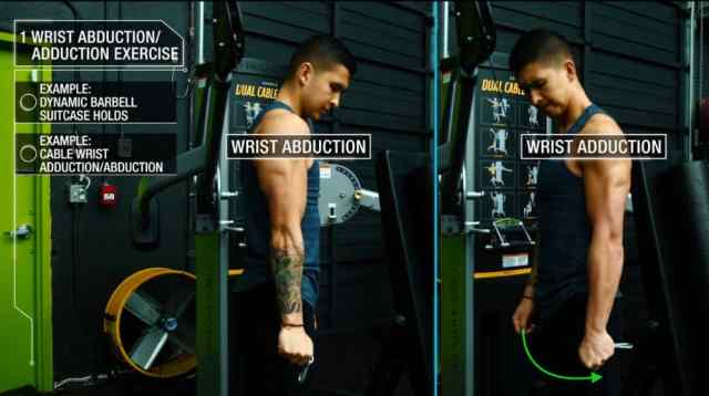 How to get bigger forearms cable wrist adduction and abduction