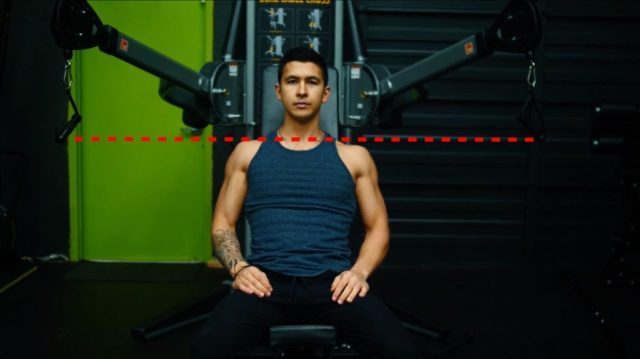 How to set up seated decline cable fly