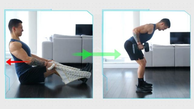 Isometric hold before bent over row
