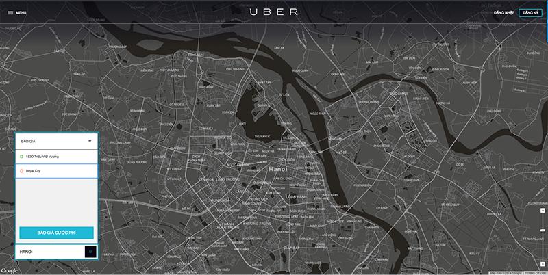 Báo giá tham khảo thi dùng Uber