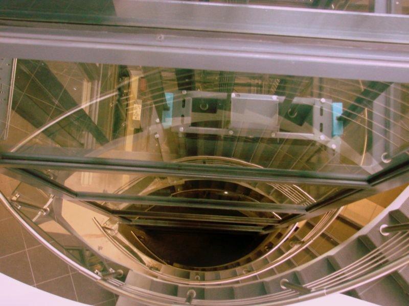 Widok na klatkę schodową w EC1