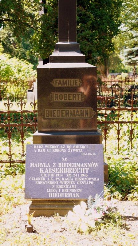 Cmentarz na ogrodowej w Lodzi - rodzina Bidermannów