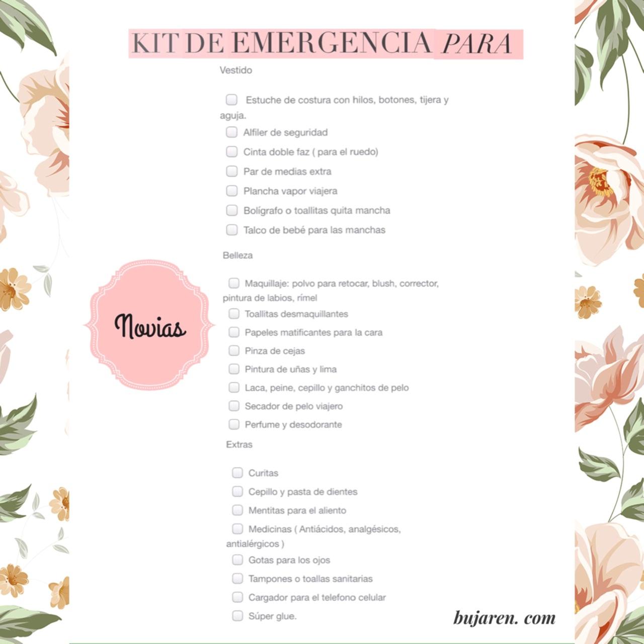 Kit de emergencia para novias