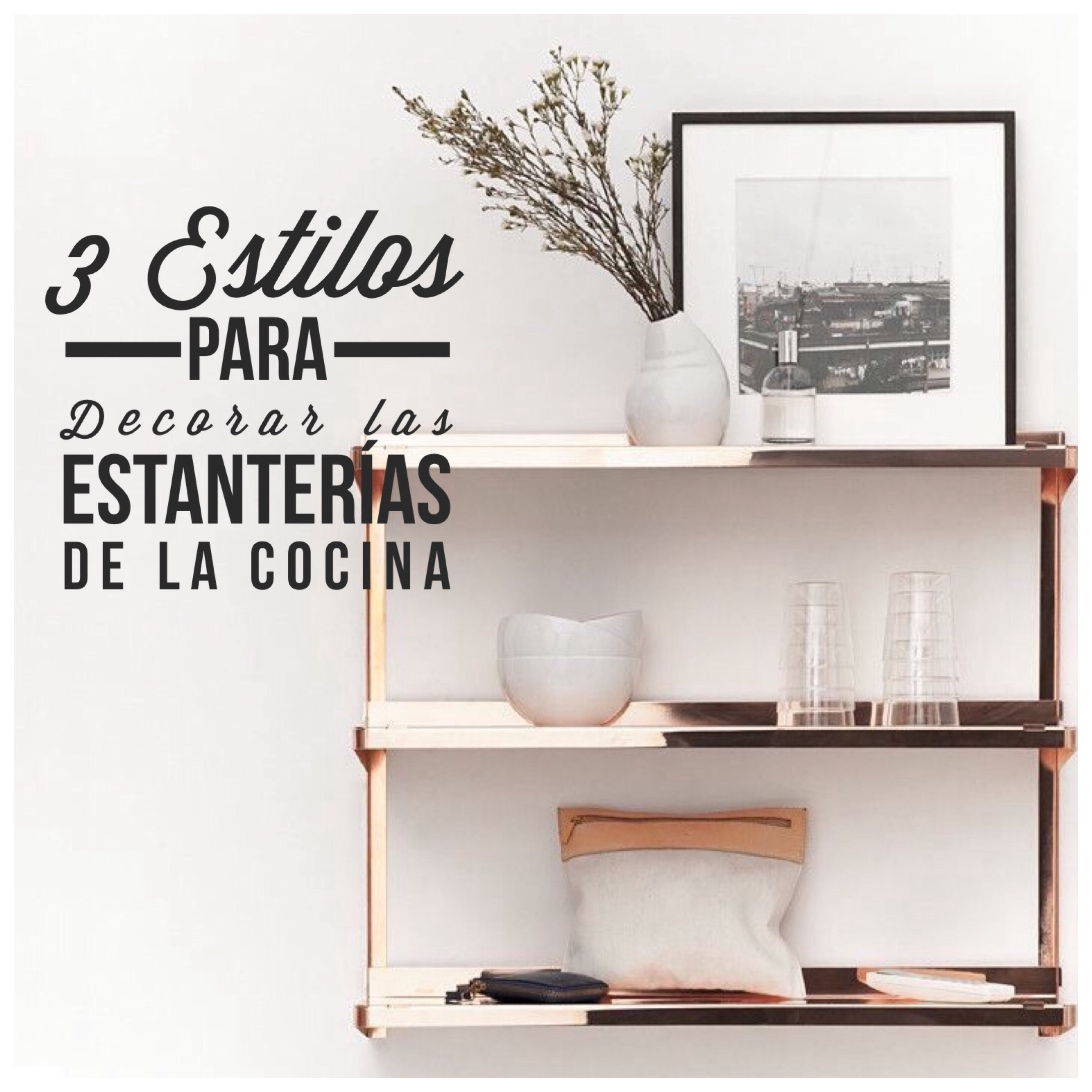 las estanteras abiertas son ideales para exponer y almacenar los utensilios de cocina de una forma muy decorativa sin necesidad de realizar grandes