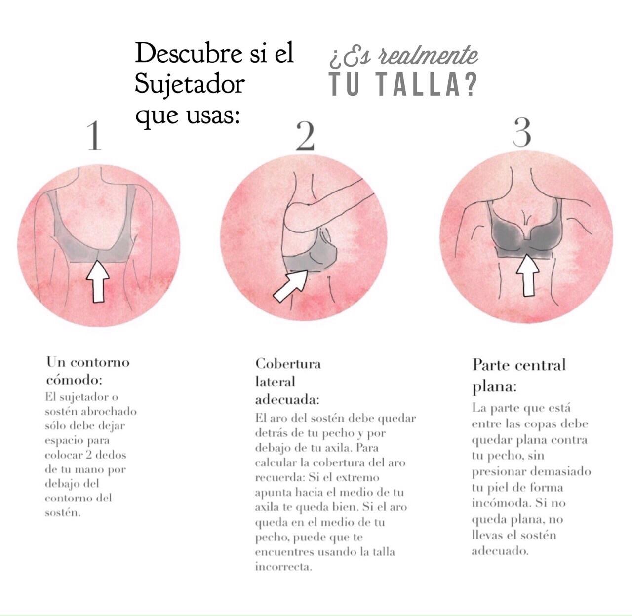 Tips para descubrir tu talla perfecta de sujetador