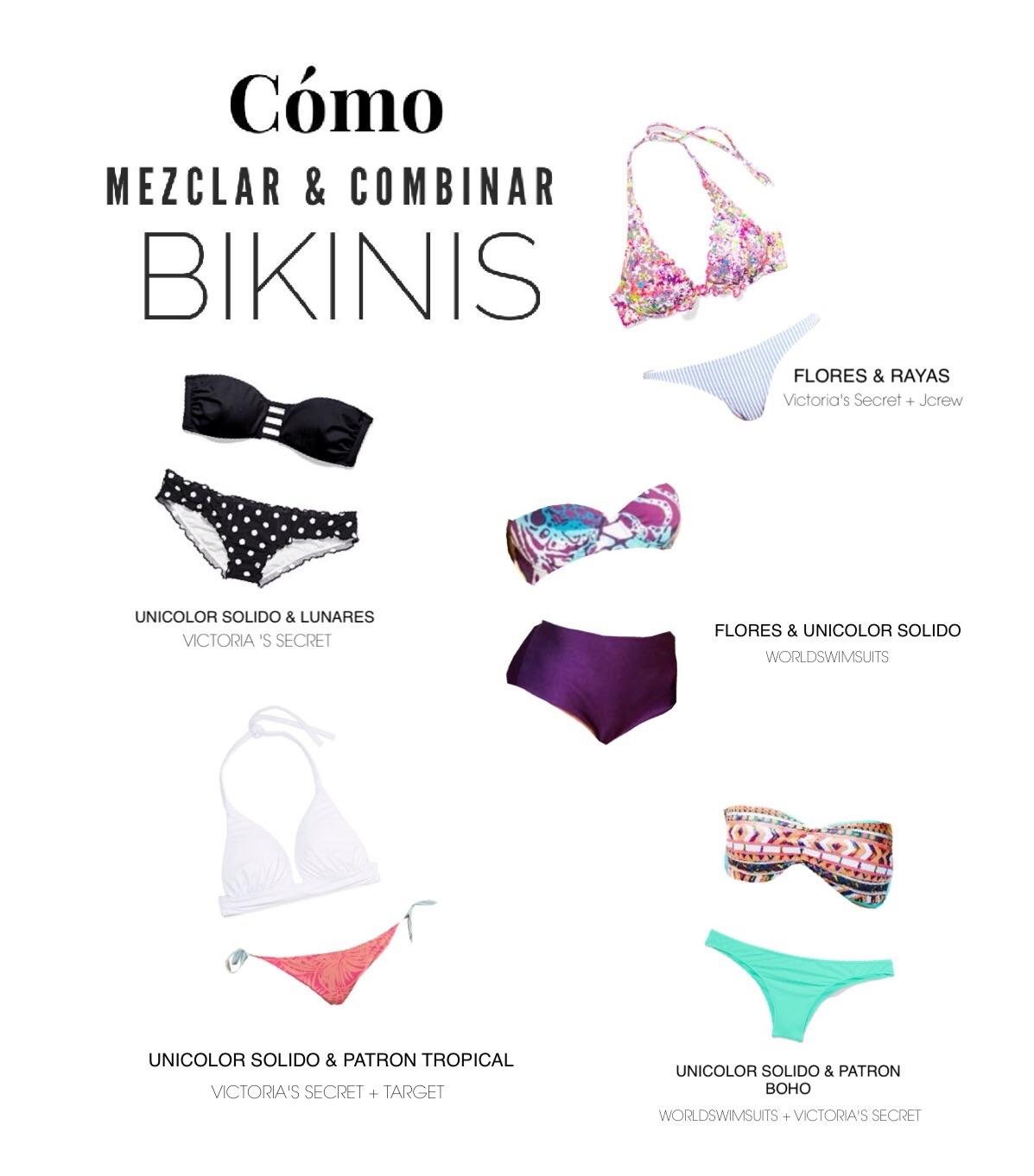 Ideas para mezclar y combinar tus bikinis
