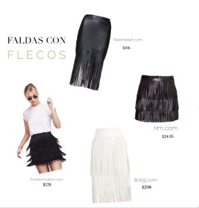 Shopping Guide: Faldas con Flecos