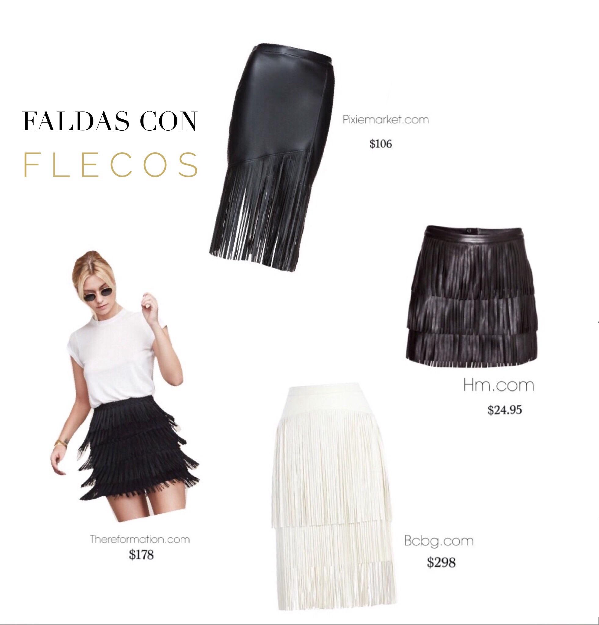 Faldas con flecos