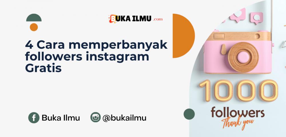 #4 Cara memperbanyak followers instagram Gratis