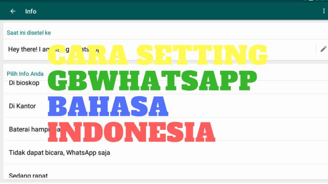 cara setting GBwhatsapp bahasa indonesia