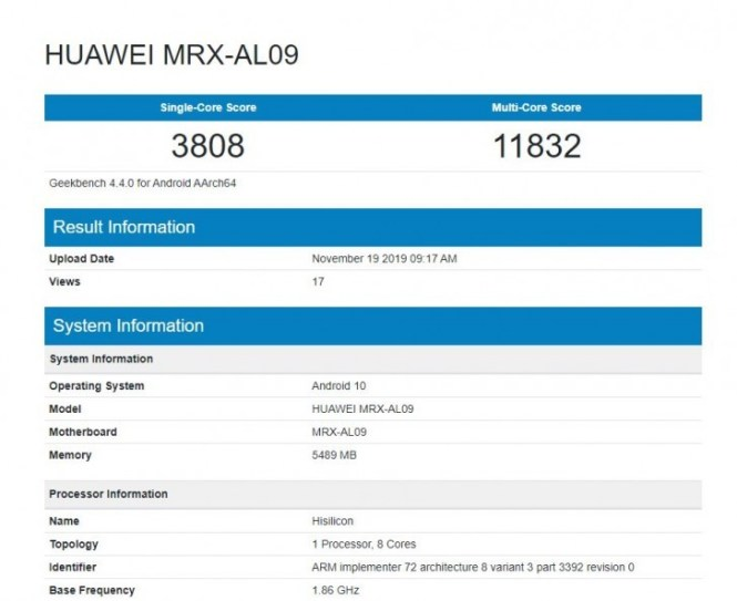 Huawei MatePad Pro passes through Geekbench, 5G edition likely on the way as well