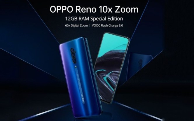 Oppo Reno 10x zoom Special Edition will come with 12 GB RAM and new Ocean Blue color