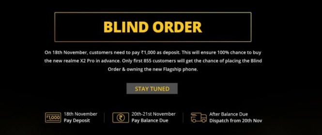 Realme X2 Pro ''blind order'' sale starts in India on November 18