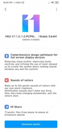 MIUI 11 Global Stable update for the Redmi 8A