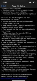 iOS 13.3 change log