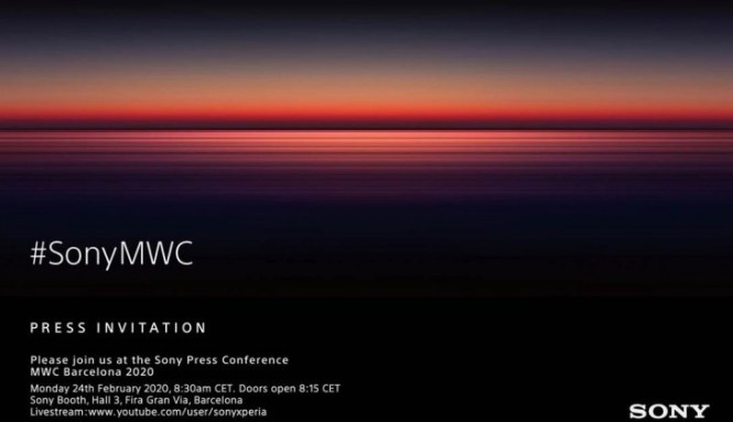 Sony will announce its new Xperia smartphones at this year's MWC on February 24