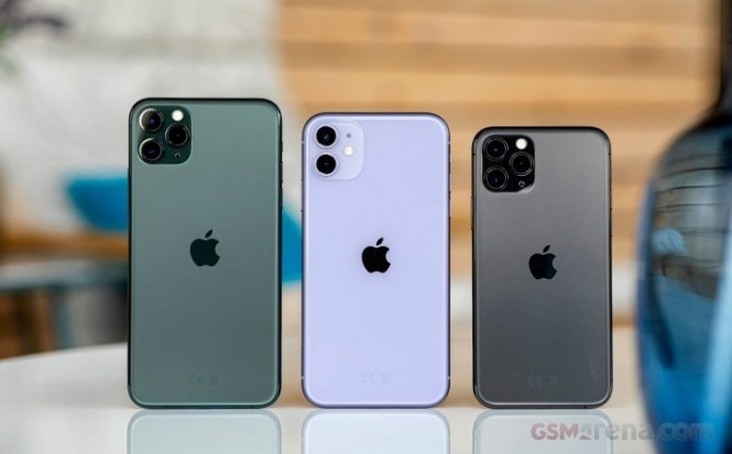 iPhone 11 Pro Max, iPhone 11, and iPhone 11 Pro