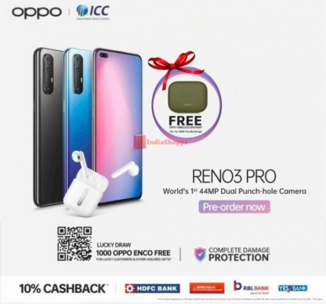 New Oppo Reno3 Pro is now available for pre-order