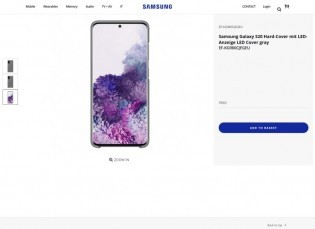 Galaxy S20 case listed by Samsung