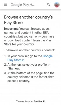 Google Play new option for EEA users
