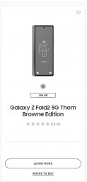 Glaxy Z Fold2 Thom Browne edition