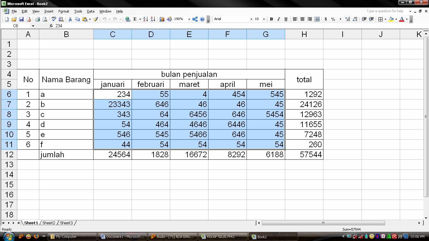 Tutorial Membuat Grafik Ms Excel