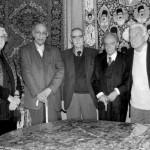 داریوش شایگان، باستانی پاریزی ، ایرج افشار ، ادیب برومند و منوچهر ستوده ( تالار فرش آقای فارسی جانی، 1386