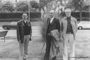 دکتر عباس زریاب خویی به همراه دکتر باستانی پاریزی و ایرج افشار