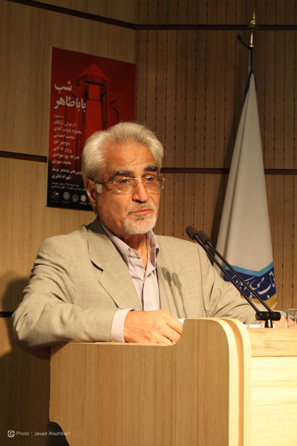 دکتر نصرالله پورجوادی ـ عکس از جواد آتشباری