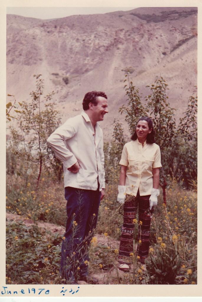 پوری سلطانی و کالن دیویس در زردبند( ژوئن ۱۹۷۰م. ۱۳۴۹ ش.)