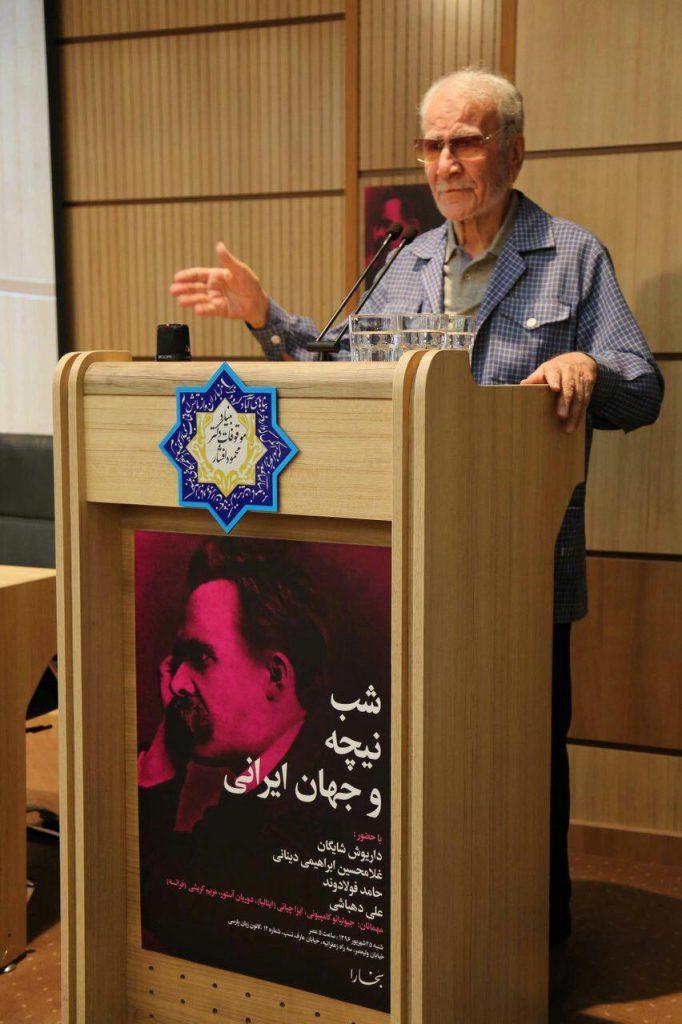 دکتر غلامحسین ابراهیمی دینانی از وجوه مشترک حافظ و نیچه گفت.