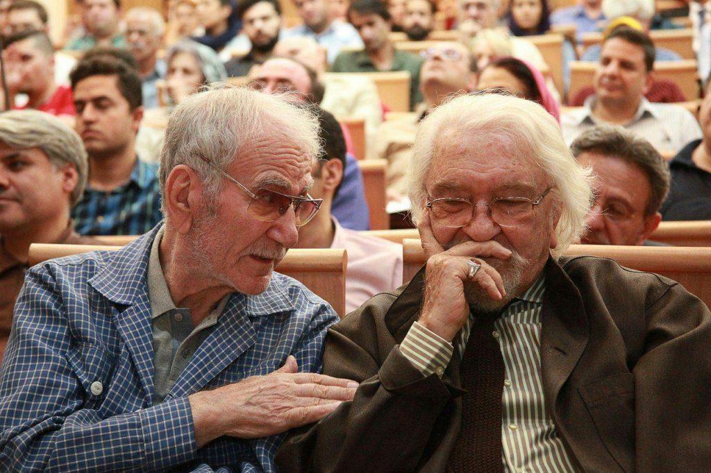 دکتر داریوش شایگان و دکتر غلامحسین ابراهیمی دینانی در شب «زردشت و جهان ایرانی»