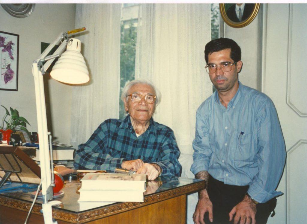 علی دهباشی به همراه محمد فاضی