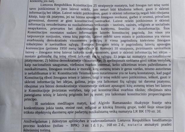 Marius Žilionis policija konstitucija