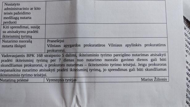 Marius Žilionis policija