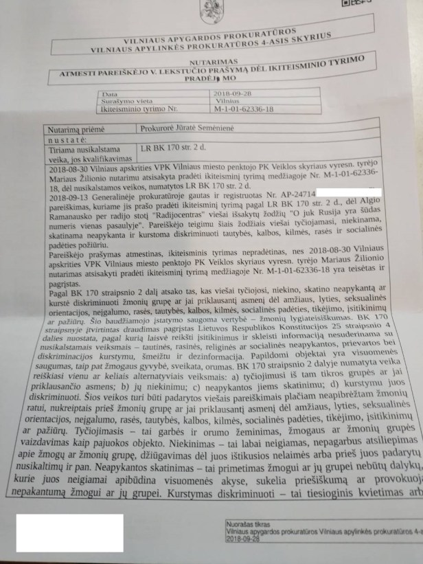 Algis Ramanauskas Prokuratūra 2