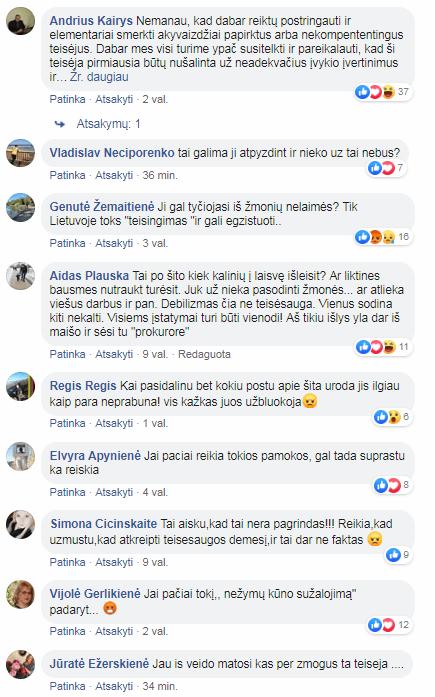 Komentarai Mikalinienės