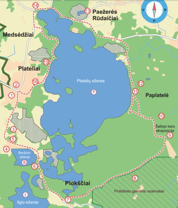 Platelių ežero dviračių