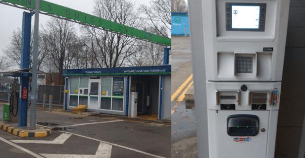 Savitarnos terminalas CNG dujos Gamtinės dujos automobiliams.png