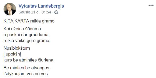 Vytautas Landsbergis šūduma