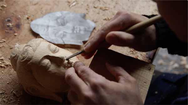 龍門石窟 如来仏頭の模刻の彫り進め方の全記録 その2