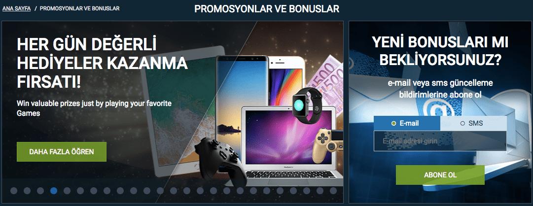 bonus ve promosyonlar