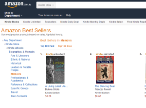 Screenshot of ALL in #1 Amazon Best seller List in the AU
