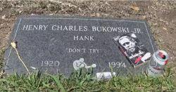 bukowski headstone